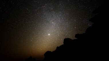 Astrophotography Time Lapse Night to Day in Desert — 图库视频影像