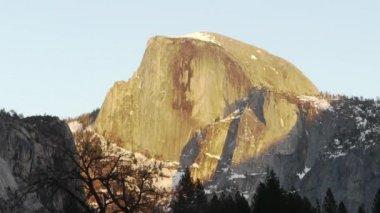 Yosemite Half Dome Sunset — Stock Video