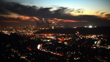 Los Angeles Skyline at Dusk — Stock Video