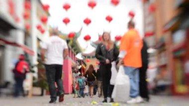 Los angeles mahallesinde, çin yeni yılı — Stok video