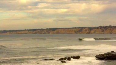 Coastline Cloudscape — Stock Video
