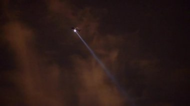 LAPD Helicopter Searching for Suspect at Night — Stock Video