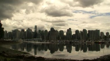 Vancouver Skyline — Stok video