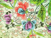 Batik kwiatki — Zdjęcie stockowe