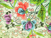 Modello batik di fiore — Foto Stock
