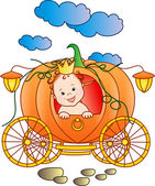 The Little Prince in a pumpkin — Stock Photo