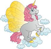 Pony with wings — Stock Photo