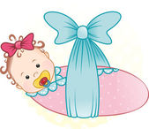 Girl in a diaper — Stock Photo