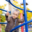 Attractive four-year-old boy at playground — Zdjęcie stockowe #41439229