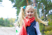 Portrait of active five-year-old girl — Stock Photo