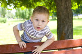 Portrait of the four-year-old boy — Foto Stock