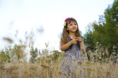 Portrait of four-year-old girl — Stockfoto