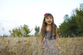 Portrait of the emotional four-year-old girl — Foto Stock
