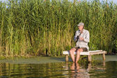 Summer fishing — Stockfoto