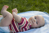 Baby lies on a back  — Stock Photo