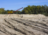 Dredge on sand — Stock Photo