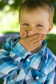 Portrait of boy of five years — Stock Photo