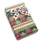 Vintage Color Christmas Gift Box — Stock Photo