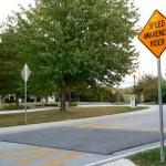 Politically-correct speed bump — Stock Photo #41171169