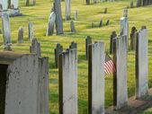 Sunny tombstones — Stock Photo