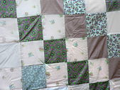 Quilt display — Stock Photo