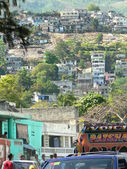 Haiti hillside — Stock Photo