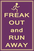 Freak out and run — Stock Vector
