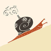 Steampunk snail — Stock Vector