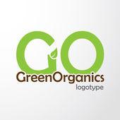 Vector - eco friendly organic logo — Stock Vector