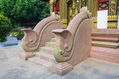 Stone stairs and handrail of a temple in Thailand  — Stock Photo