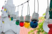 Colorful light bulbs in daylight — ストック写真