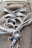 Shoelace of canvas shoe — Foto de Stock