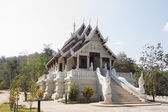 Small white temple in Chiang Rai, Thailand — Stock Photo