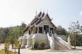 Small white temple in Chiang Rai, Thailand — Stock Photo