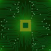 Circuit board cpu — Stock Vector
