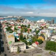Bird s eye view of houses at Reykjavik — Stock Photo #44347839