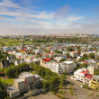 Bird s eye view of houses at Reykjavik — Stock Photo #44347845