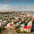 Bird s eye view of houses at Reykjavik — Stock Photo