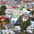 Bird s eye view of houses of Reykjavik — Stock Photo