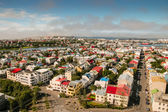 Bird s eye view of houses at Reykjavik — Foto Stock