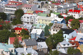 Bird s eye view of houses of Reykjavik — Foto Stock