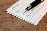 Deposit slip — Stock Photo