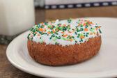 Sprinkle doughnut — Stock Photo