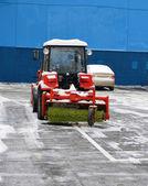 Snowblower on parking — Stock Photo