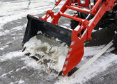 ladle of the snowblower — Stock Photo
