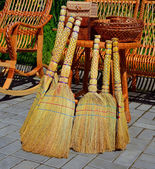 Beautiful brooms of handwork — Stock Photo