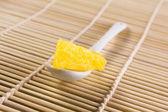 Spoon pineapple — Stock Photo