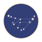 Constellation Capricorn (Goat-horned). — Stock Vector