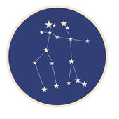 Constellation Gemini (The Twins). — Stock Vector