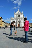 Florence in Italy, Santa Croce — Stock Photo
